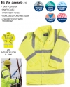 Hi Vis 3/4 Length Jacket