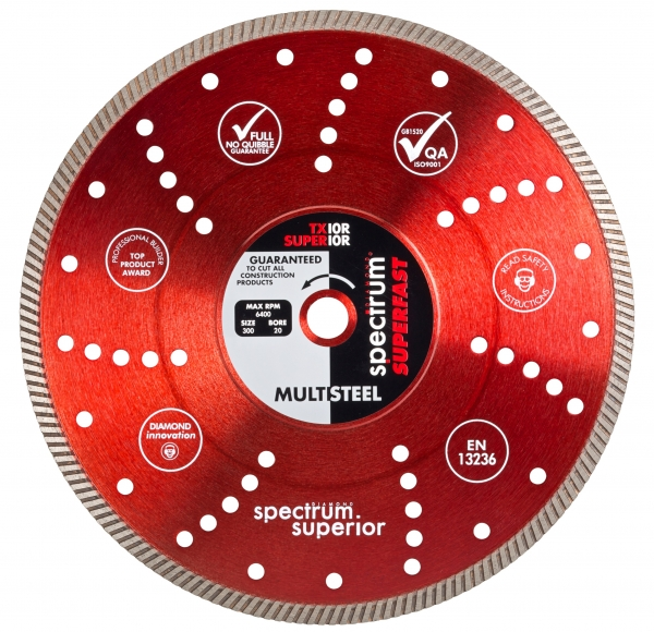 TX10R Superfast pro multi-steel diamond blade